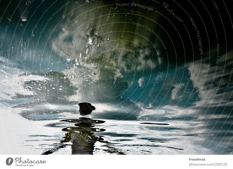 gleaming Human being Feminine Woman Adults Swimming & Bathing Stand Dream Exceptional Cold Naked Relaxation Whimsical Surrealism Water Sky Colour photo