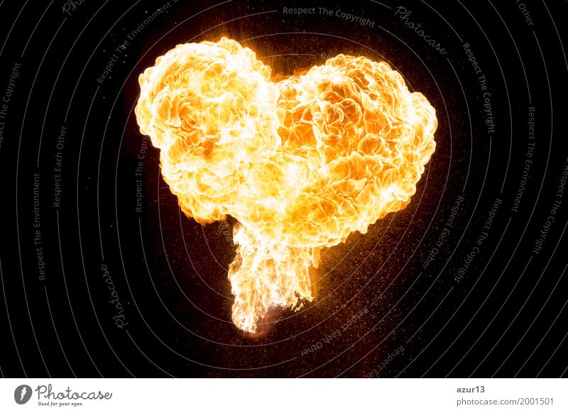 Burning love as a glowing beautiful heart of fire and flame Wellness Flirt Valentine's Day Mother's Day Wedding Energy industry Renewable energy Solar Power Art