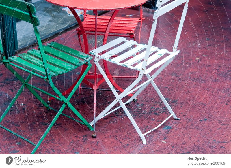 White Green Red Garden Metal 3 Table Chair Furniture Symbols and metaphors Italian Folding chair