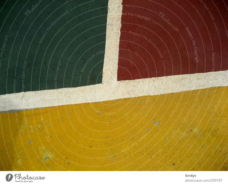 White Green Red Yellow Design Esthetic Creativity Playing field Division Geometry Graphic Multicoloured Sporting Complex Basketball arena Ground markings Dividing line