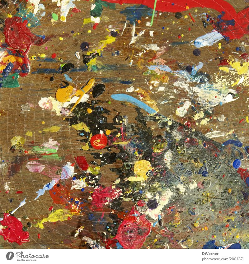 White Red Joy Colour Yellow Playing Style Dye Art Dirty Design Modern Uniqueness Drop Painting (action, artwork) Draw