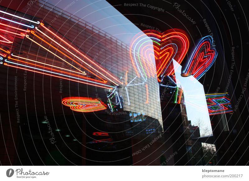 City Architecture Happy Lamp Art Glass Elegant Facade Heart Design Modern Decoration Illuminate Technology Luxury