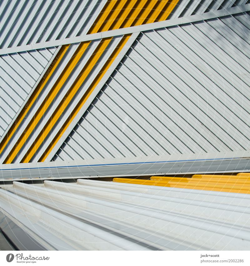 Only lines 2 Architecture Berlin Facade Fire wall Decoration Metal Line Stripe Network Esthetic Sharp-edged Modern Many Moody Power Acceptance Complex