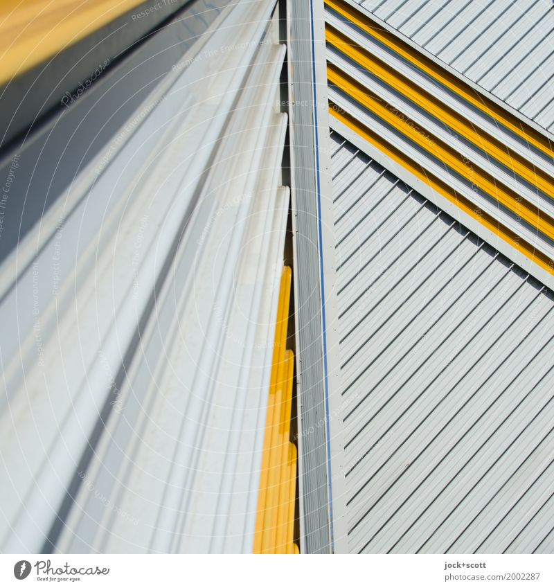 Only lines 3 Architecture Berlin Facade Fire wall Decoration Metal Line Stripe Network Esthetic Sharp-edged Retro Many Moody Power Disciplined Inspiration