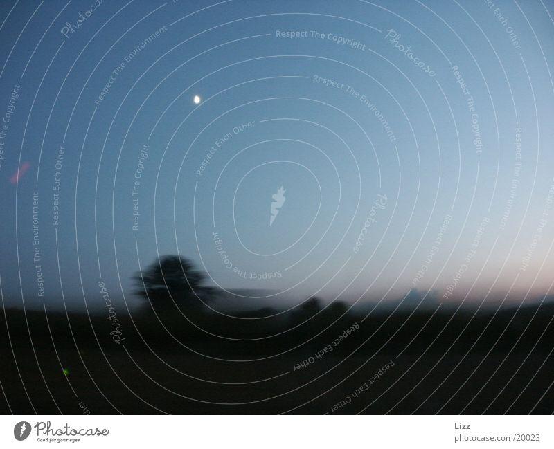 Highspeed past the moon 2 Speed Night Transport Moon Landscape