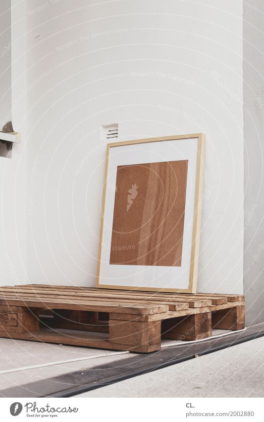 frame on pallet Living or residing Redecorate Moving (to change residence) Arrange Interior design Cable Wall (barrier) Wall (building) Balcony Decoration