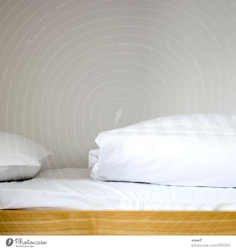 White Calm Wood Line Room Safety Arrangement Esthetic Bed Authentic Simple Clean Thin Living or residing Interior design