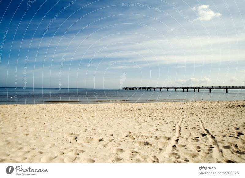 Sky Nature Blue Water Vacation & Travel Summer Ocean Beach Clouds Far-off places Environment Landscape Sand Coast Horizon Germany