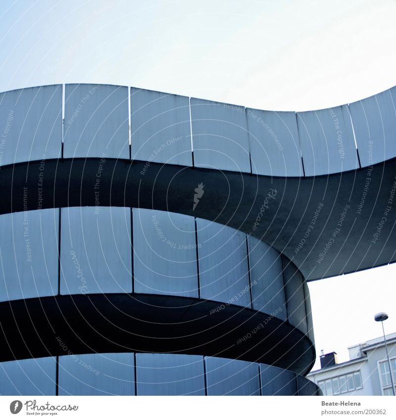 Architecture Elegant Facade Concrete Modern Esthetic Round Exceptional Discover Upward Saarland Career Spiral Parking garage Ramp Meandering