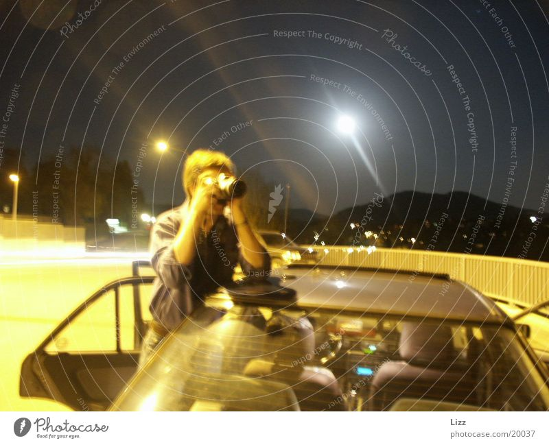 night photographer Night Light Yellow Transport