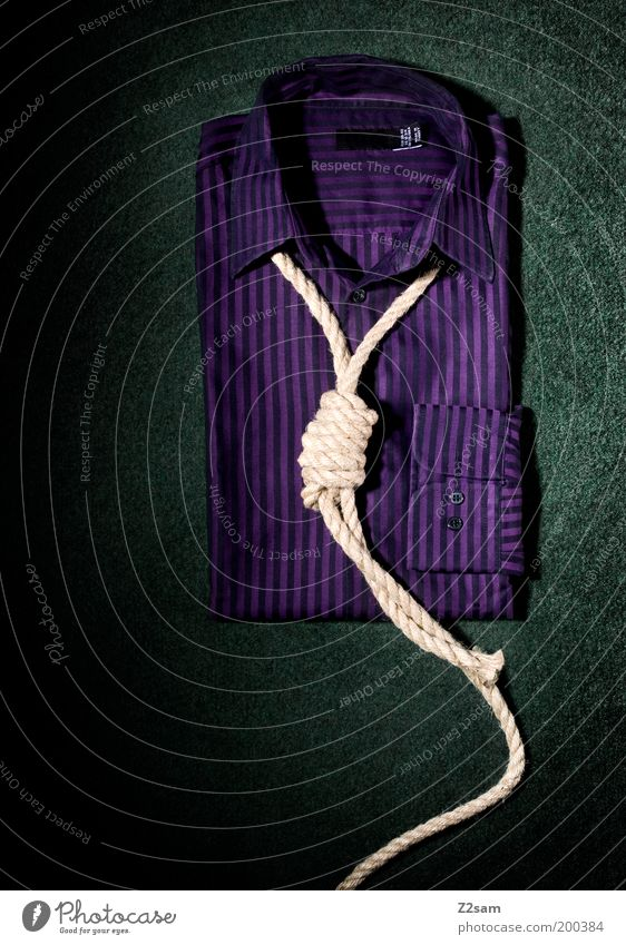 Green Colour Dark Death Style Fashion Design Rope Esthetic Clothing Stripe Simple Clean Violet Creativity