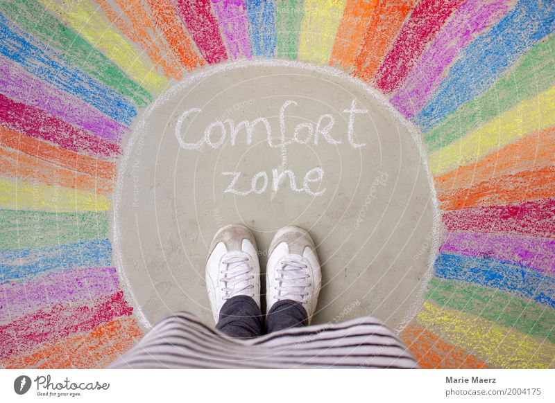 comfort zone Vacation & Travel Adult Education Career Success Woman Adults Feet 1 Human being Growth Wait Exceptional Curiosity Multicoloured Enthusiasm Brave