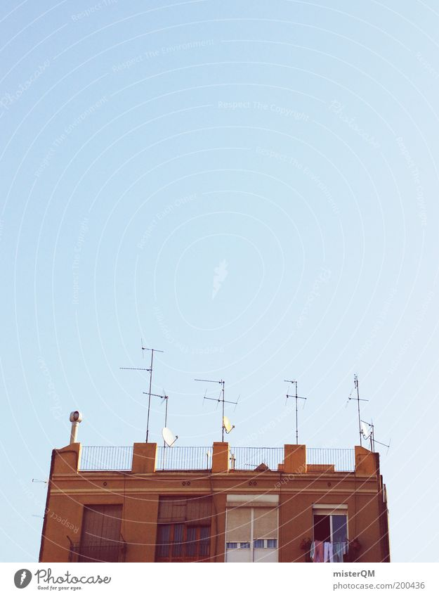 All Inclusive. Culture Spain Roof Antenna Receive Ready to receive Receiving station Laundry Summer Mediterranean Siesta Lunch hour Satellite dish