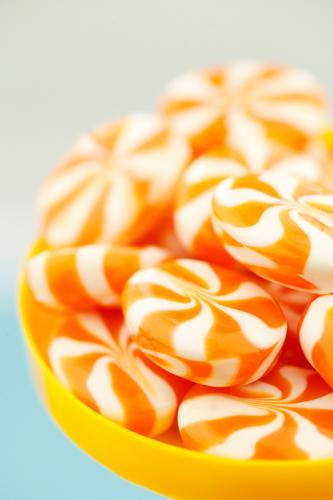 #A# sugar sweet Art Esthetic Sugar Candy Orange Many Unhealthy Delicious Rich in calories Calorie Colour photo Multicoloured Interior shot Studio shot Close-up