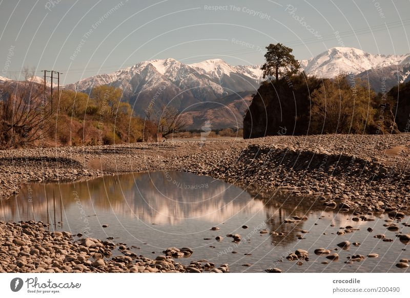 Nature Water Sky Snow Mountain Spring Landscape Moody Environment Rock Alps Peak Beautiful weather Glacier Mirror image Symmetry