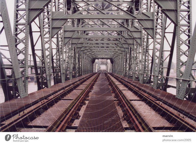 Old Architecture Bridge Railroad tracks Monument Iron