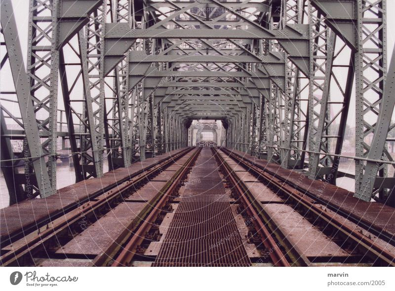 old bridge Railroad tracks Iron Monument Architecture Bridge Old