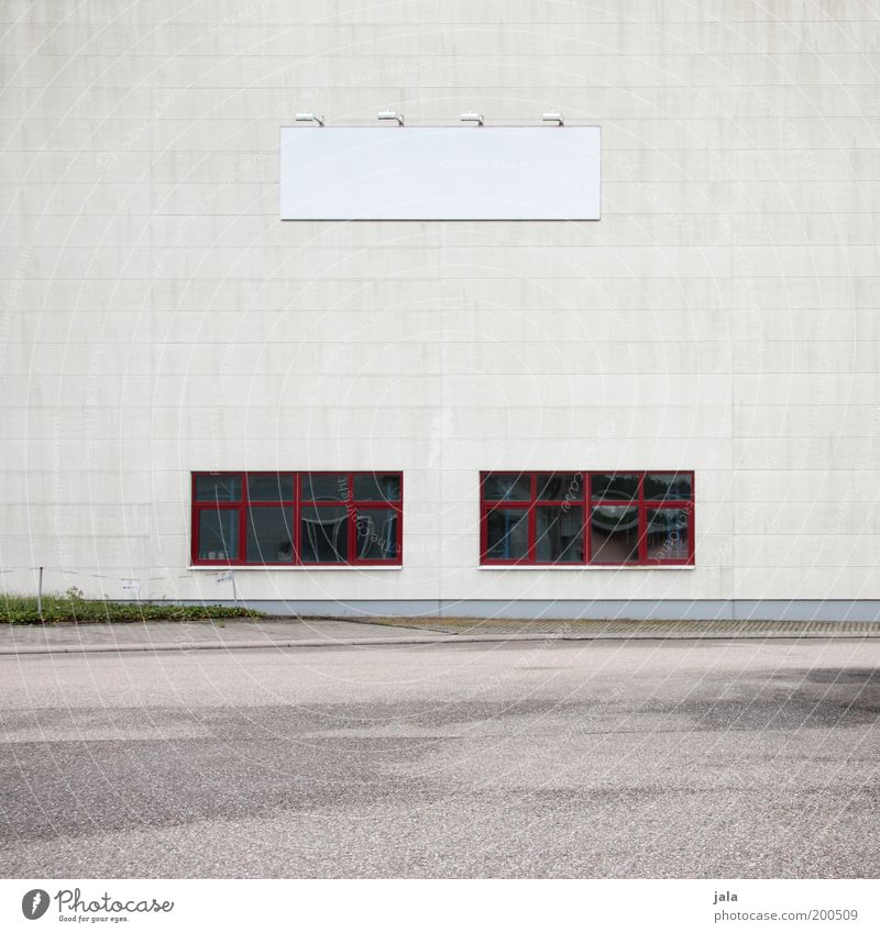 Red House (Residential Structure) Window Gray Building Architecture Signs and labeling Large Facade Industry Places Factory Services Company Economy Trade