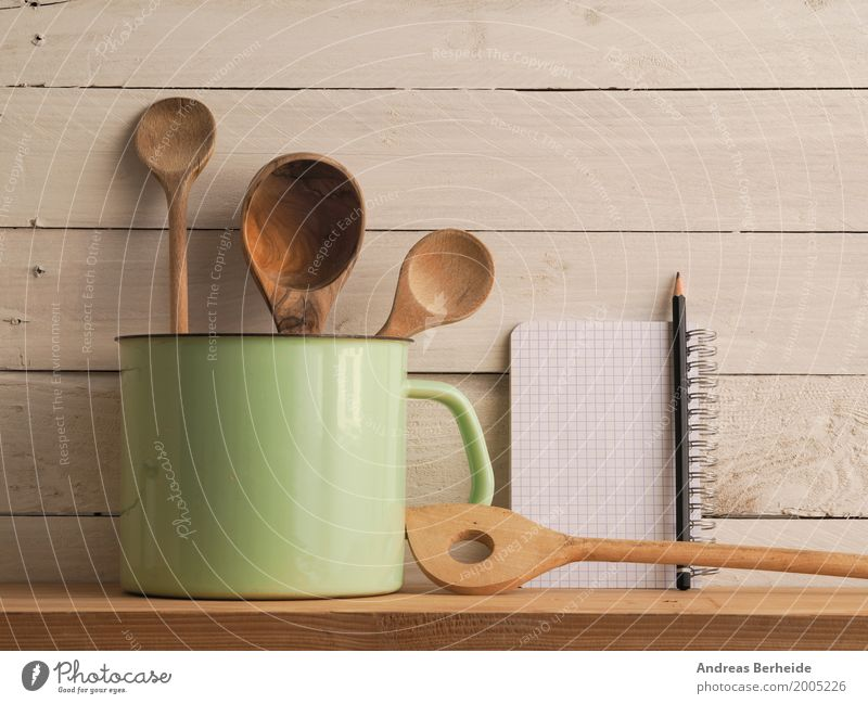 Retro kitchen utensils Style Wall (barrier) Wall (building) Old Arranged Background picture decoration domestic Enamel group home household interior kitchenware