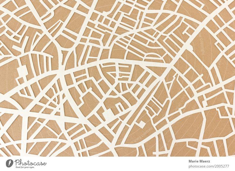 Vacation & Travel Town Street Lanes & trails Tourism Brown Design Arrangement Esthetic Authentic Illustration Curiosity Logistics Map Mobility Orientation