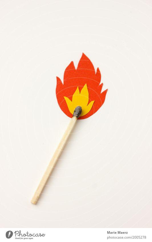 Yellow Illuminate Modern Success Dangerous Idea Energy Threat Illustration Fire Symbols and metaphors Hot Burn Flame Match Self-made