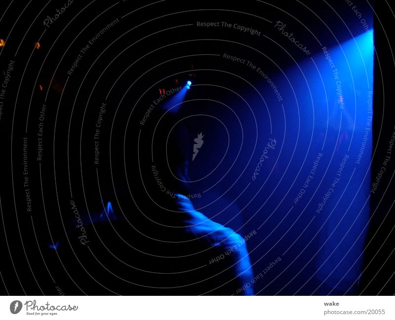 Blue Dark Dance Club Radiation Stage lighting Israel Drum'n'bass Tel Aviv