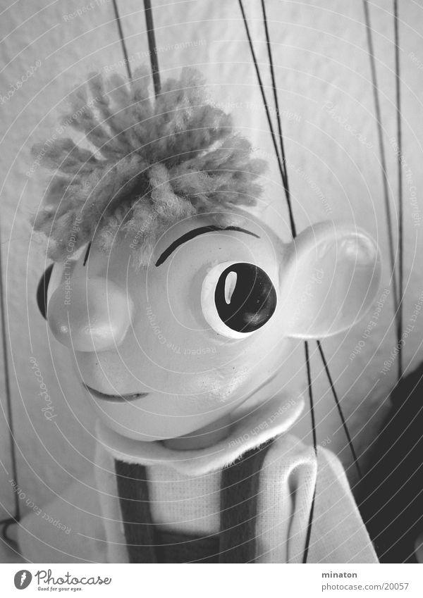 Hurvinek Marionette Portrait photograph Gray scale value Leisure and hobbies Doll macro mode