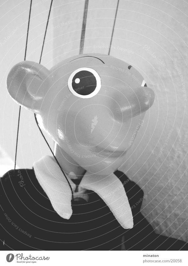 Spejbl Marionette Portrait photograph Gray scale value Leisure and hobbies Doll macro mode