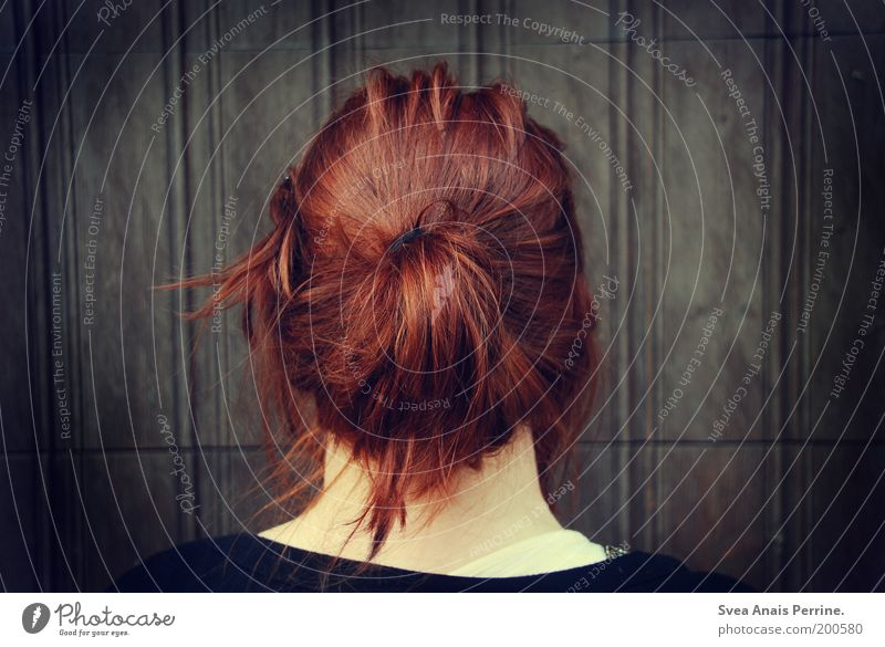 Outside the door. Feminine Young woman Youth (Young adults) Hair and hairstyles 1 Human being Wall (barrier) Wall (building) Facade Red-haired Looking Wait Cold