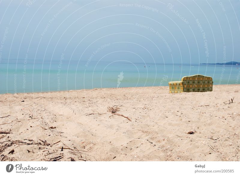 Relaxed - more relaxed - most relaxed Relaxation Leisure and hobbies Vacation & Travel Beach Sofa Work of art Sand Beautiful weather Calm Chalkidiki