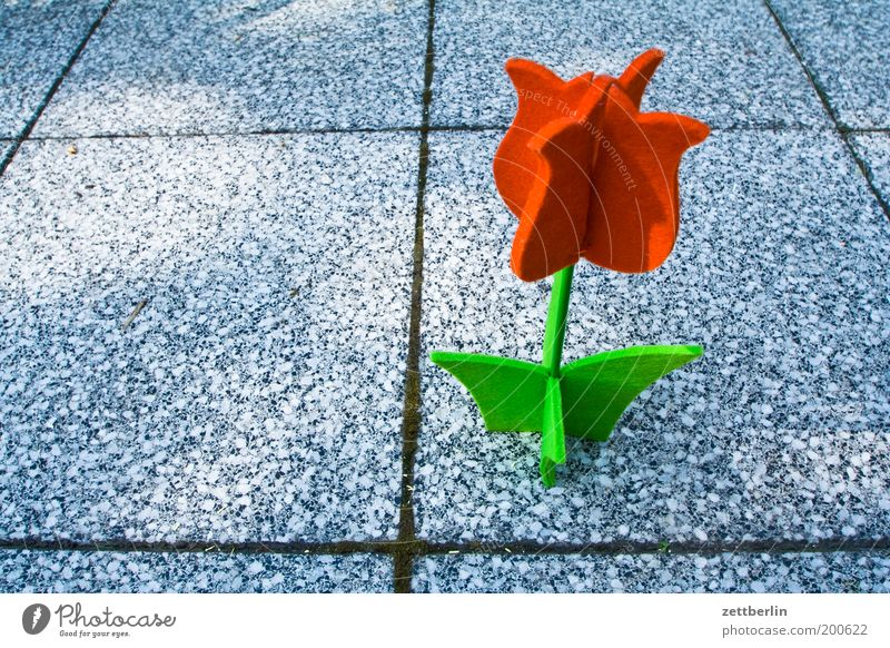 Flower Summer Blossom Garden Decoration Sidewalk Tulip Terrace Lanes & trails Seam Artificial Paving tiles Structures and shapes Felt Handcrafts Silk flower