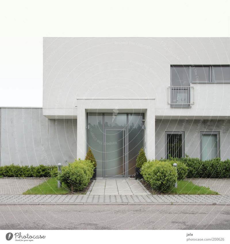 Sky White Green House (Residential Structure) Wall (building) Window Gray Wall (barrier) Building Architecture Door Facade Modern Esthetic Gloomy
