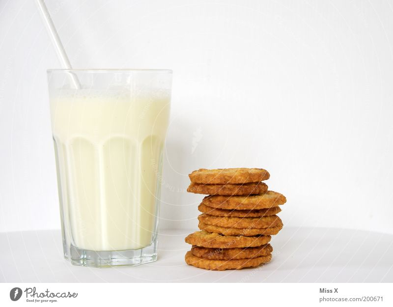 White Style Healthy Glass Infancy Food Nutrition Beverage Pure Breakfast Delicious Organic produce Baked goods Milk Cookie Dough