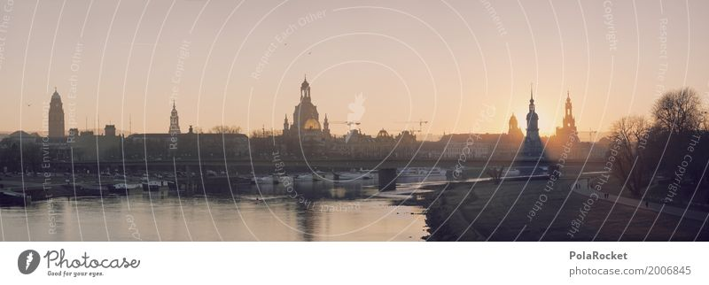 #A# Dresden BigTime Painting and drawing (object) Esthetic Panorama (Format) Panorama (View) Freedom of panorama Silhouette Baroque Elbe Elbufer Old town