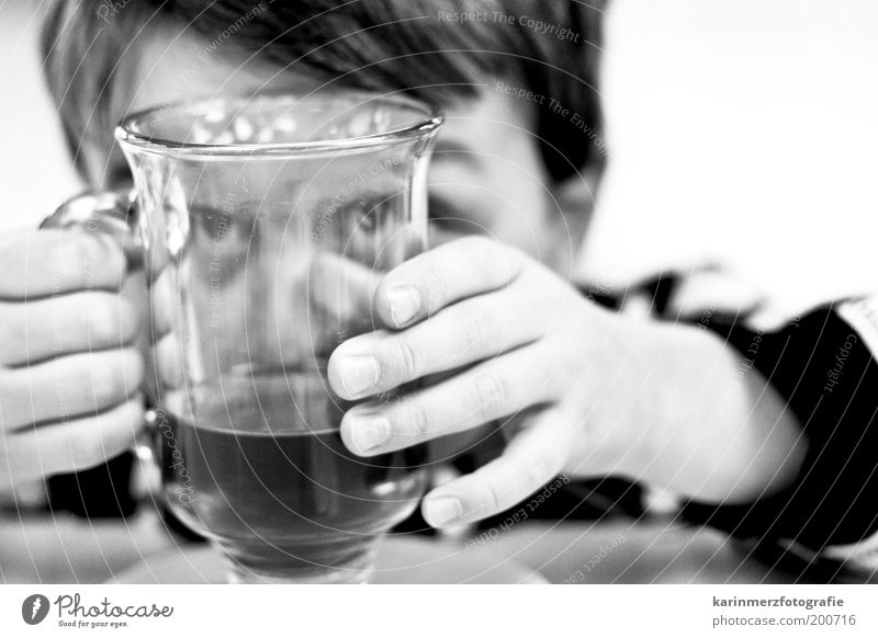 Human being Child Hand Joy Eyes Playing Funny Glass Masculine Fingers Happiness Drinking Tea Natural Curiosity Infancy