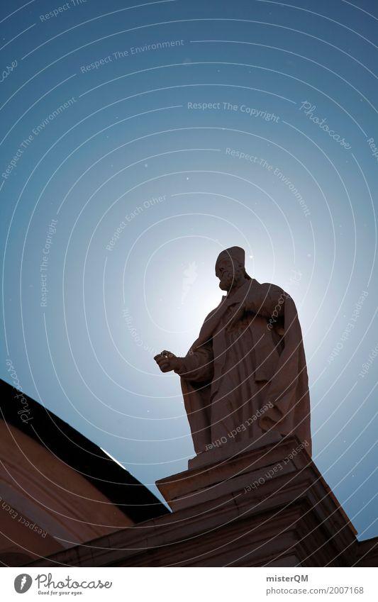 Religion and faith Art Church Esthetic Belief Statue Heavenly Blue sky Evangelical crusade