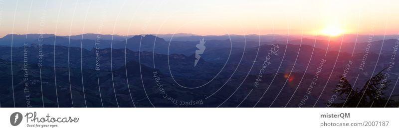 Landscape Far-off places Art Horizon Esthetic Idyll Italy Panorama (Format) San Marino Panoramic camera
