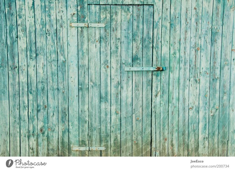 Occupied! Style Living or residing House (Residential Structure) Garden Village Deserted Door Farm Hinge Closed Blue Wooden board Barn Barn door Colour photo