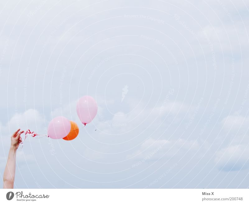 Human being Hand Sky Joy Clouds Party Emotions Playing Happy Contentment Moody Feasts & Celebrations Orange Arm Pink