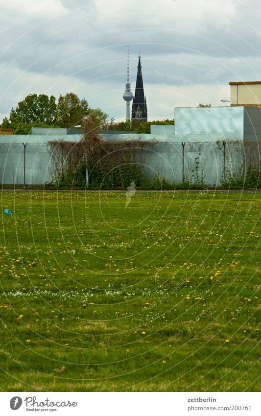 House (Residential Structure) Meadow Grass Berlin Religion and faith Building Field Church Tower Lawn Grass surface Airport Berlin TV Tower Television tower