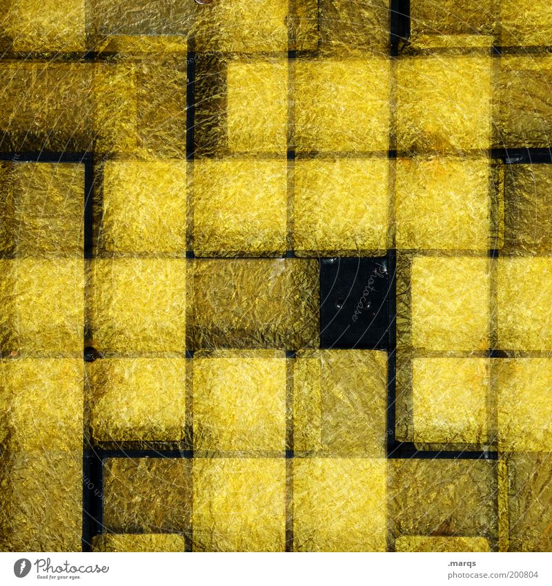 Black Yellow Style Line Glass Background picture Design Crazy Lifestyle Exceptional Double exposure Grid Gap Checkered Abstract