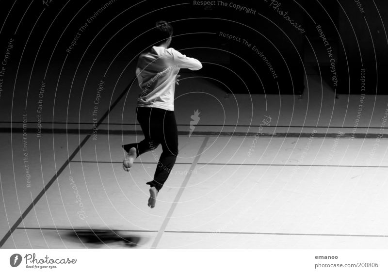 Human being Youth (Young adults) White Beautiful Joy Black Life Dark Sports Emotions Jump Movement Adults Dance Elegant
