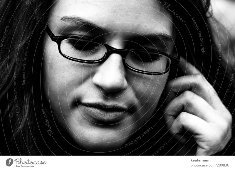 Jula II Human being Feminine Young woman Youth (Young adults) Head Nose Mouth 1 18 - 30 years Adults Artist Eyeglasses Black & white photo Exterior shot