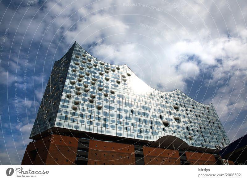 Sky Town Clouds Architecture Style Exceptional Tourism Design Illuminate Elegant Esthetic Success Culture Large Uniqueness Hamburg