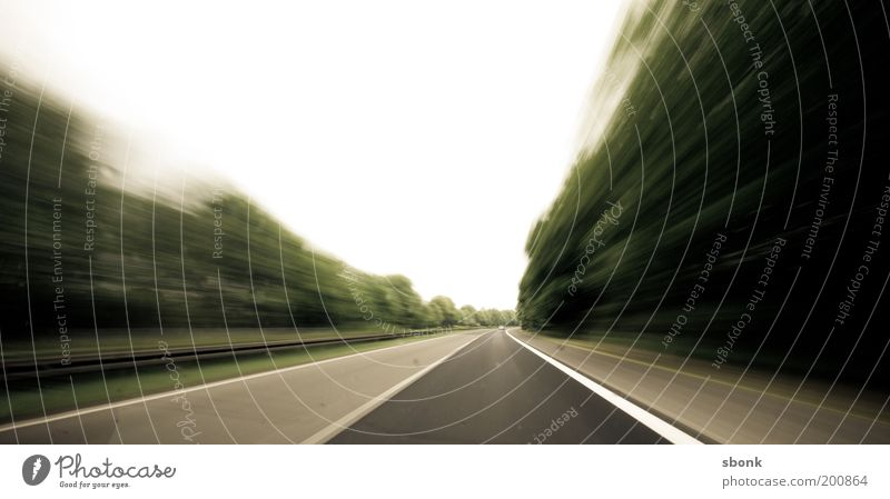 time to go Transport Traffic infrastructure Road traffic Motoring Street Highway Driving Speed Stress Time Colour photo Motion blur Haste