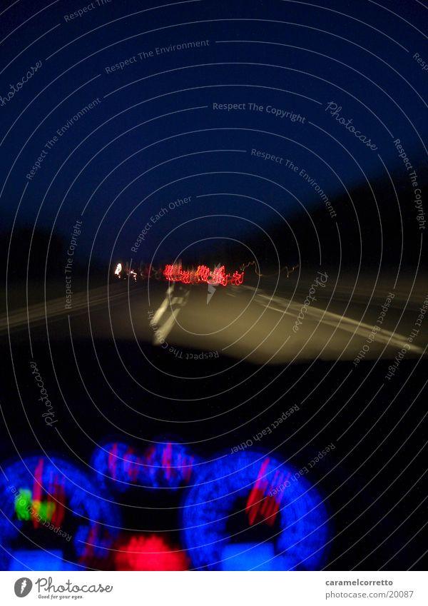 Blue Street Transport Speed Highway Speedometer