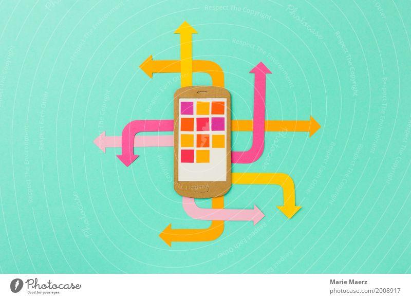 Modern Communicate Telecommunications Speed Illustration Information Hip & trendy Cellphone Arrow Stress Chaos PDA Determination Complex Marketing Swap