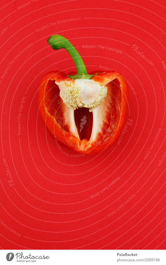 #A# Red & Healthy Art Esthetic Pepper Stripes of pepper Healthy Eating Delicious Vitamin Vegetable Vegetable dish Vegetable market Greengrocer Gaudy Stalk