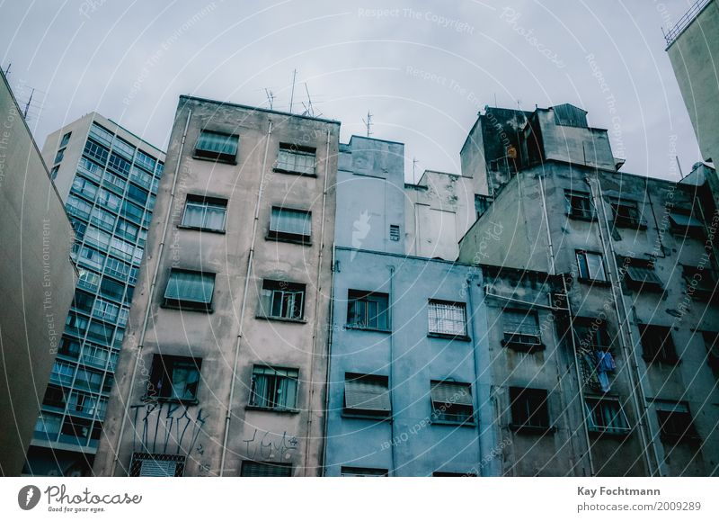 Blue Town Loneliness Window Dark Cold Wall (building) Wall (barrier) Gray Dirty Fear High-rise Gloomy Threat Planning Hope
