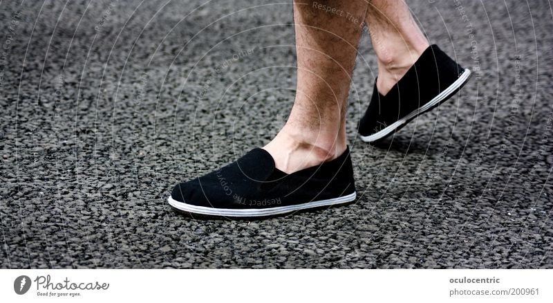 go the way Masculine Legs Feet Footwear Old Walking Chinese martial art Vessel Asphalt Hair Gritty Ready Stand Wait China Xian Flat Patient Summer Calm